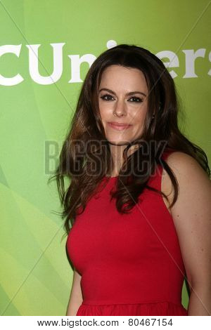 LOS ANGELES - JAN 15:  Emily Hampshire at the NBCUniversal Cable TCA Press Tour at the Huntington Langham Hotel on January 15, 2014 in Pasadena, CA