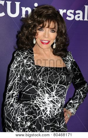 LOS ANGELES - JAN 15:  Joan Collins at the NBCUniversal Cable TCA Winter 2015 at a The Langham Huntington Hotel on January 15, 2015 in Pasadena, CA