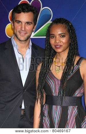 LOS ANGELES - JAN 16:  Juan Pablo di Pace, Chipo Chung at the NBC TCA Winter 2015 at a The Langham Huntington Hotel on January 16, 2015 in Pasadena, CA