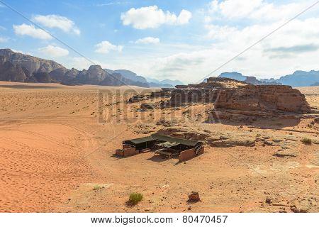 Bedouin Tent In Wadi Rum Desert