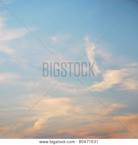 Soft Clouds Against Blue Sky