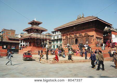 Stree life on Durbar Square, Kathmandu,Nepal