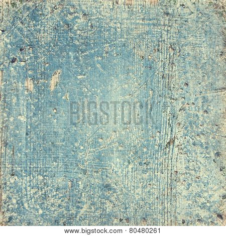 rustic wooden blue background