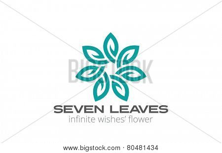 Abstract Flower Logo infinity loop design vector template. Creative looped infinite shape floral Logotype concept.