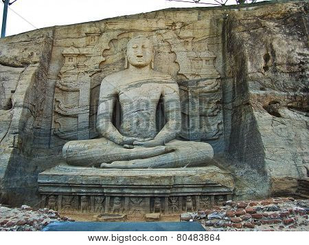 Dying Buddah In Gal Vihara In The Ancient Capital Polonnaruwa, Sri Lanka