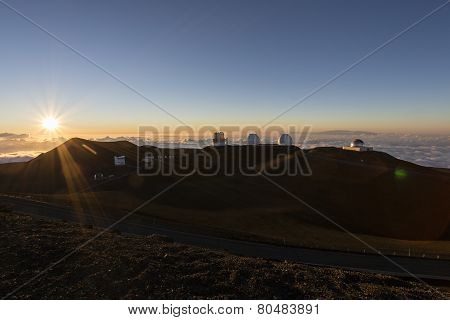 Spectacular Sunset From Mauna Kea - Hawaii