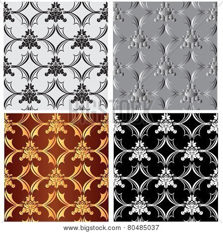 seamless textures-patterned fabric 1-vector illustration