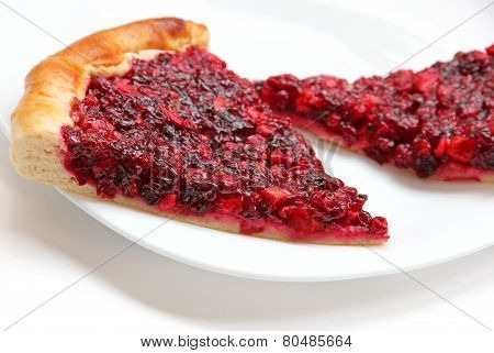 Piece Of Apple And Cowberry Jelly Pie