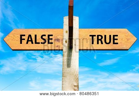 True versus False messages
