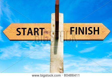 Start versus Finish messages