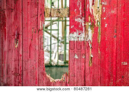 Close-up Of Broken Wooden Door