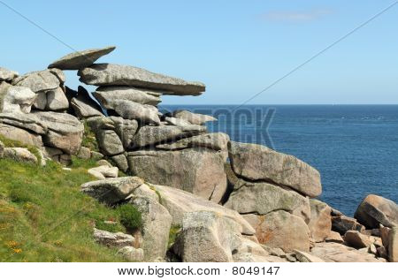 Pulpit Rock, St. Mary's Isles Of Scilly, Cornwall Uk.