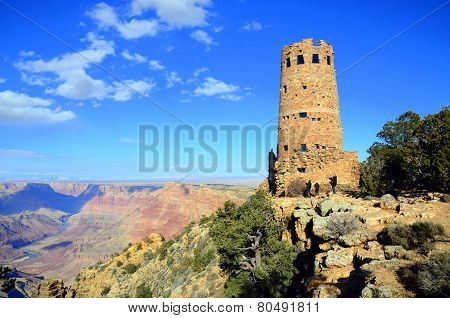 Desert view watchtower in Grand Canyon South Rim