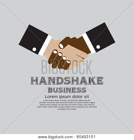 Handshake Simply And Clean Business Concept.