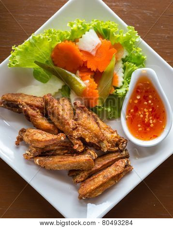 deep fried chicken buffalo wing