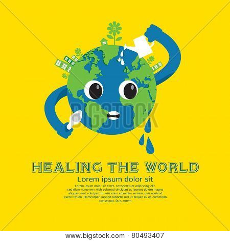 Healing The World Green Concept.
