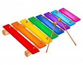 picture of dimentional  - Illustration of a colorful xylophone isolated on white background - JPG