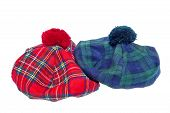 pic of headgear  - Traditional Scottish Green and Red Tartan Bonnet also named Tam o - JPG