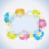 stock photo of tropical island  - This graphic is abstract tropical frame - JPG