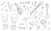 picture of congas  - Sketch Music Instruments set  - JPG