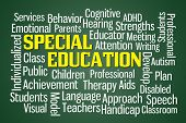 foto of cognitive  - Special Education word cloud on Green Background - JPG