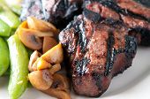 pic of lamb  - grilled lamb chops with creamy mashed potatoes - JPG