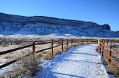 picture of arch  - Snow road in Delicate Arch viewpoint - JPG
