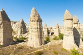 stock photo of goreme  - Fairy tale chimneys in Love Valley near Goreme - JPG