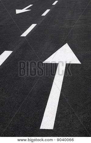 Arrows in opposite ways
