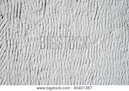 White Decorative Relief Plaster On Wall