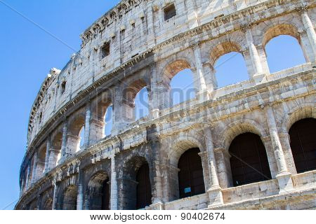 Colloseum With Blue Sky