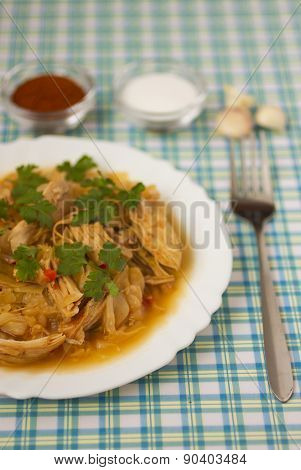 Chicken with cabbage