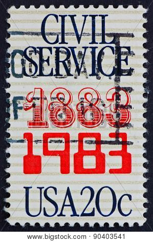 Postage Stamp Usa 1983 Civil Service, Anniversary