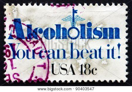 Postage Stamp Usa 1981 Alcoholism
