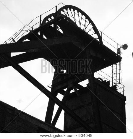 Mina de carbón inglés antiguos