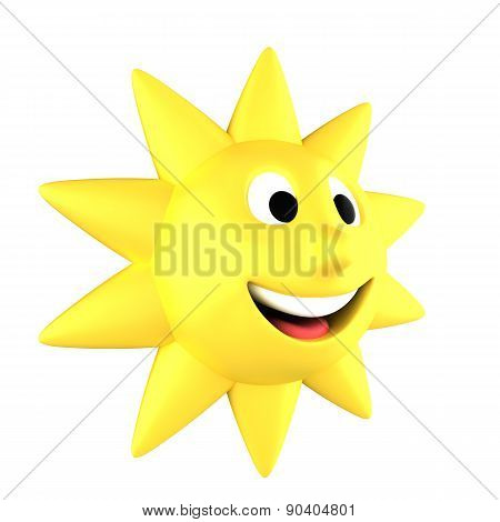 Yellow Sun Smiling