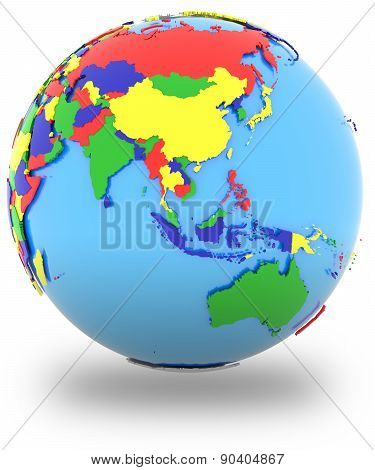 Southeast Asia On The Globe