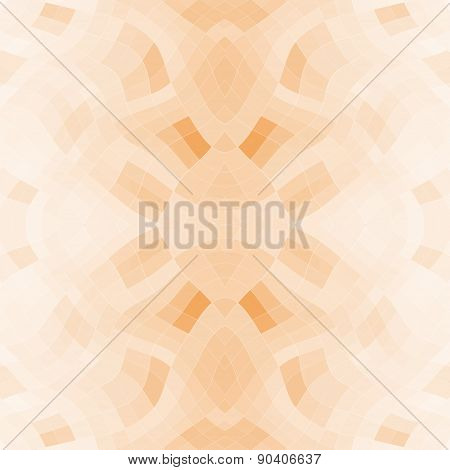 Seamless Mosaic Pattern Or Background In Orange