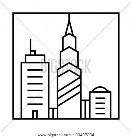 Cityscape icon. Urban cityscape vector icon