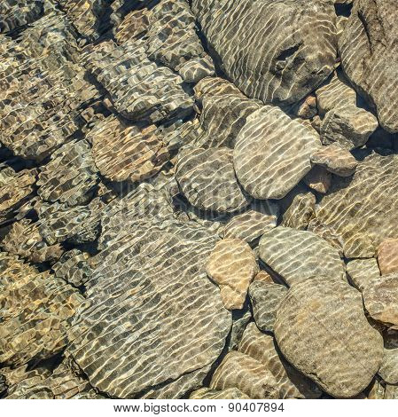 Water Pattern On Rocks