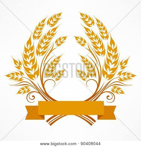 Stylized Wheat Wreath