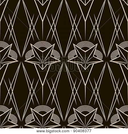 Art Deco Vector Geometric Pattern. Seamless Texture Background Design