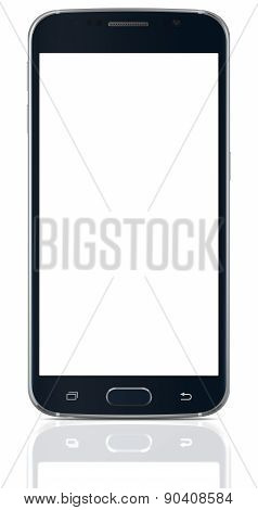 Black Sapphire Smartphone with Blank Screen
