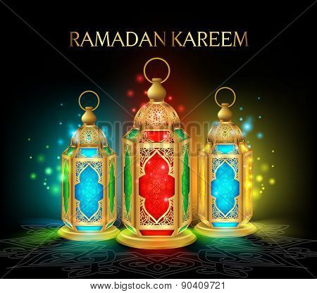 Beautiful Elegant Ramadan Kareem Lantern or Fanous
