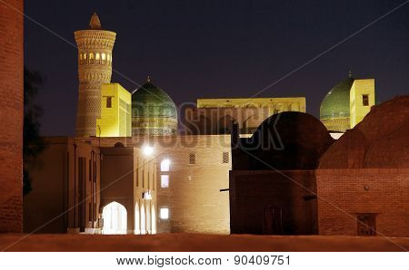 Night View Of Kalon Minaret - Bukhara - Uzbekistan