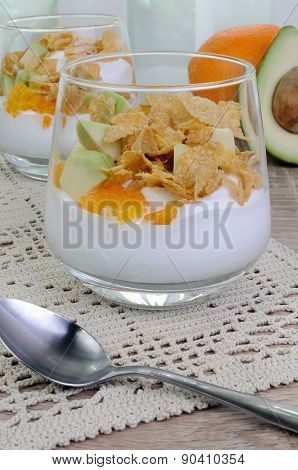 Parfait With Orange And Avocado