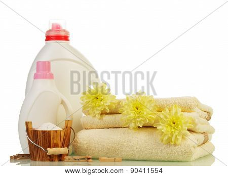 Washing powder and Cleaning items with flowers