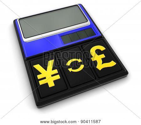 Calculator and Currency (clipping path included)