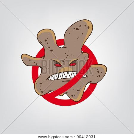 Stop virus vector illustration