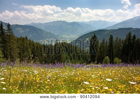 View From Austrian Alps Around Zell Am See